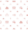 stereo icons pattern seamless white background vector image vector image
