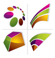 Three-dimensional colorful graphical icons set vector image