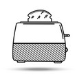 toaster in line art style vector image vector image