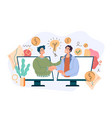 two business person businessman shaking hands vector image