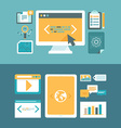web development and digital content marketing vector image vector image
