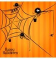 Web spiders and fishing in Halloween style vector image vector image