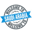 welcome to Saudi Arabia blue round vintage stamp vector image vector image