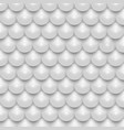 white 3d shiny realistic pearl mosaic seamless vector image