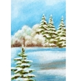 Winter Christmas Forest Landscape vector image vector image