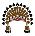 American indian avatar vector image