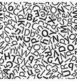 Letters seamless pattern vector image