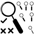 black loupe and different mark vector image
