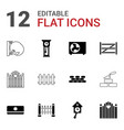 12 wall icons vector image vector image