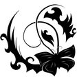 abstract black butterfly vector image vector image