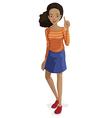 African-American Girl vector image