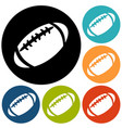 american football icon isolated vector image vector image