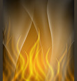 background template with orange flames vector image