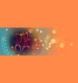 beautiful lord ganesha design colorful banner vector image vector image