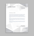 beautiful low poly letterhead design vector image vector image