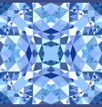 blue repeating kaleidoscope pattern background vector image vector image