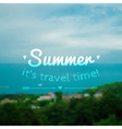 blurred summer landscape background vector image vector image