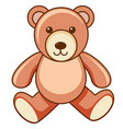 brown teddy bear on white background vector image