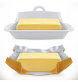 butter 3d realistic icon vector image vector image