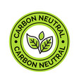 carbon neutral icon stamp co2 energy monoxide vector image