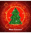 Card with a Christmas tree vector image vector image