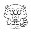 cartoon animal cute raccoon vector image vector image
