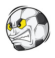 cartoon football angry face vector image