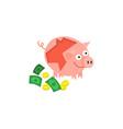 cartoon repaired piggy bank vector image