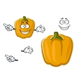 Cartoon sweet yellow bell pepper vegetable vector image vector image