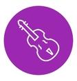 Cello line icon vector image