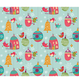 Christmas birds pattern vector image vector image