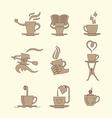 coffee tea icon set vector image vector image