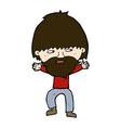 comic cartoon happy man with beard vector image vector image