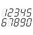digital numbers 0 - 9 on white background flat vector image