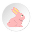 easter bunny icon circle vector image vector image