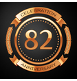 Eighty two years anniversary celebration with vector image vector image