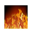 flame isolated over black background hot red and vector image vector image