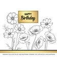 floral garland wild flowers vector image