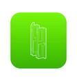 folding door icon green vector image