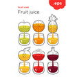 freshly squeezed fruit and vegetable juice vector image