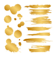 gold blots vector image vector image