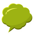 green speech bubble icon cartoon style vector image