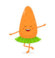 happy cute smiling funny carrot ballerina vector image vector image