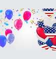 happy independence day card celebration red vector image vector image