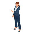 isometric business women stylish isolated on white vector image vector image