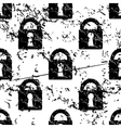 Locked padlock pattern grunge monochrome vector image