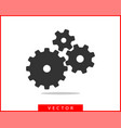 metal gears and cogs gear icon flat design vector image vector image
