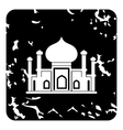 Mosque icon grunge style vector image