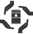oil tank container icon vector image