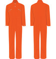 orange working uniform vector image vector image
